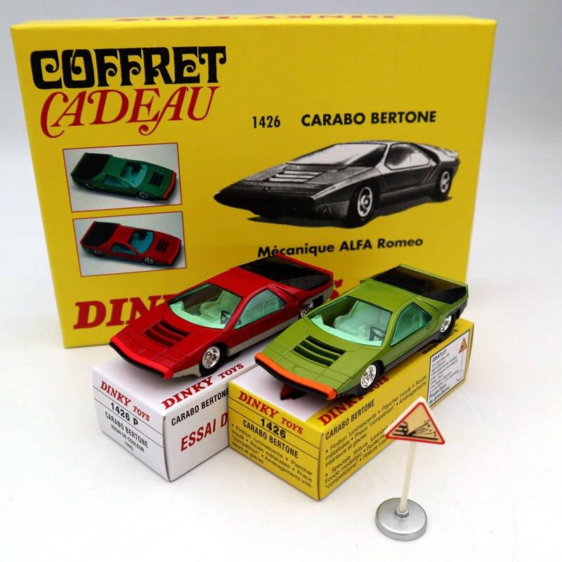Atlas Dinky Toys SET 1426 1426P Carabo Bertone Mecanique Alfa Romeo Diecast Car