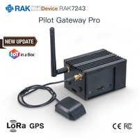 Mucho en una caja alimentado piloto Gateway Pro con Semtech SX1301 y Raspberry Pi 3B + y Ublox MAX-7Q