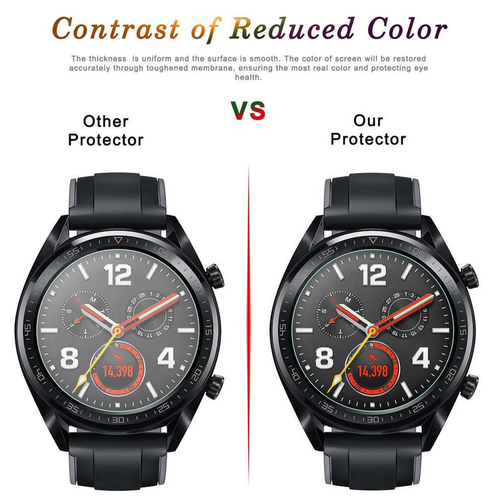 9H Premium Tempered Glass For Huawei Watch Gt GT 2 46mm Smartwatch Screen Protector Explosion-Proof Film Accessories 4