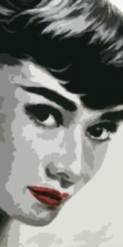 100%Handmade Audrey Hepburn 30x16 Pop art style Oil Painting