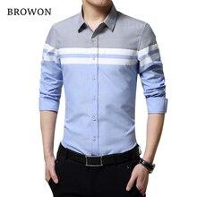 2020 mode Herren Shirts Marke Kleidung Slim Fit Patchwork Streifen Kleidung Männlichen Langarm Shirt für Männer Camiseta Männlichen