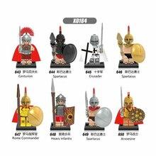 X0164 Single Sale Building Blocks Super Heroes Spartacus Medieval Knights Arvoesine Rome Commander Action Figures Toys Kids Gift