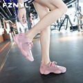 Fznyl 2019 moda tênis feminino malha respirável esporte fitness tênis de corrida ao ar livre casual meias sapatos zapatos de mujer