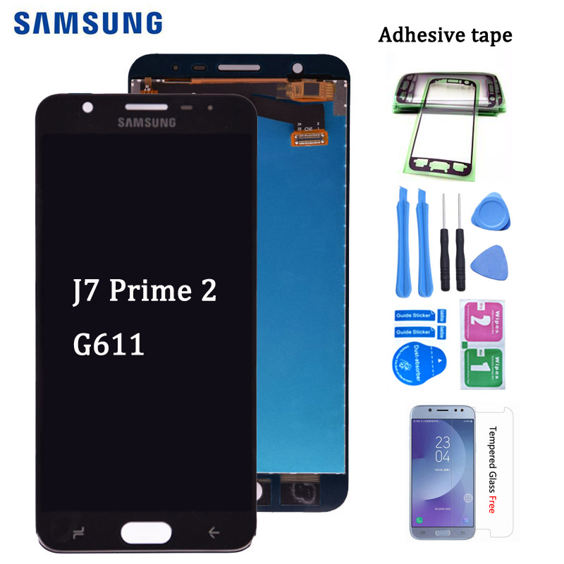 Original For <font><b>Samsung</b></font> <font><b>Galaxy</b></font> <font><b>J7</b></font> Prime 2 <font><b>2018</b></font> G611 LCD <font><b>Display</b></font> Digitizer Touch Screen Assembly Replacement part for G611 G611FF/DS image