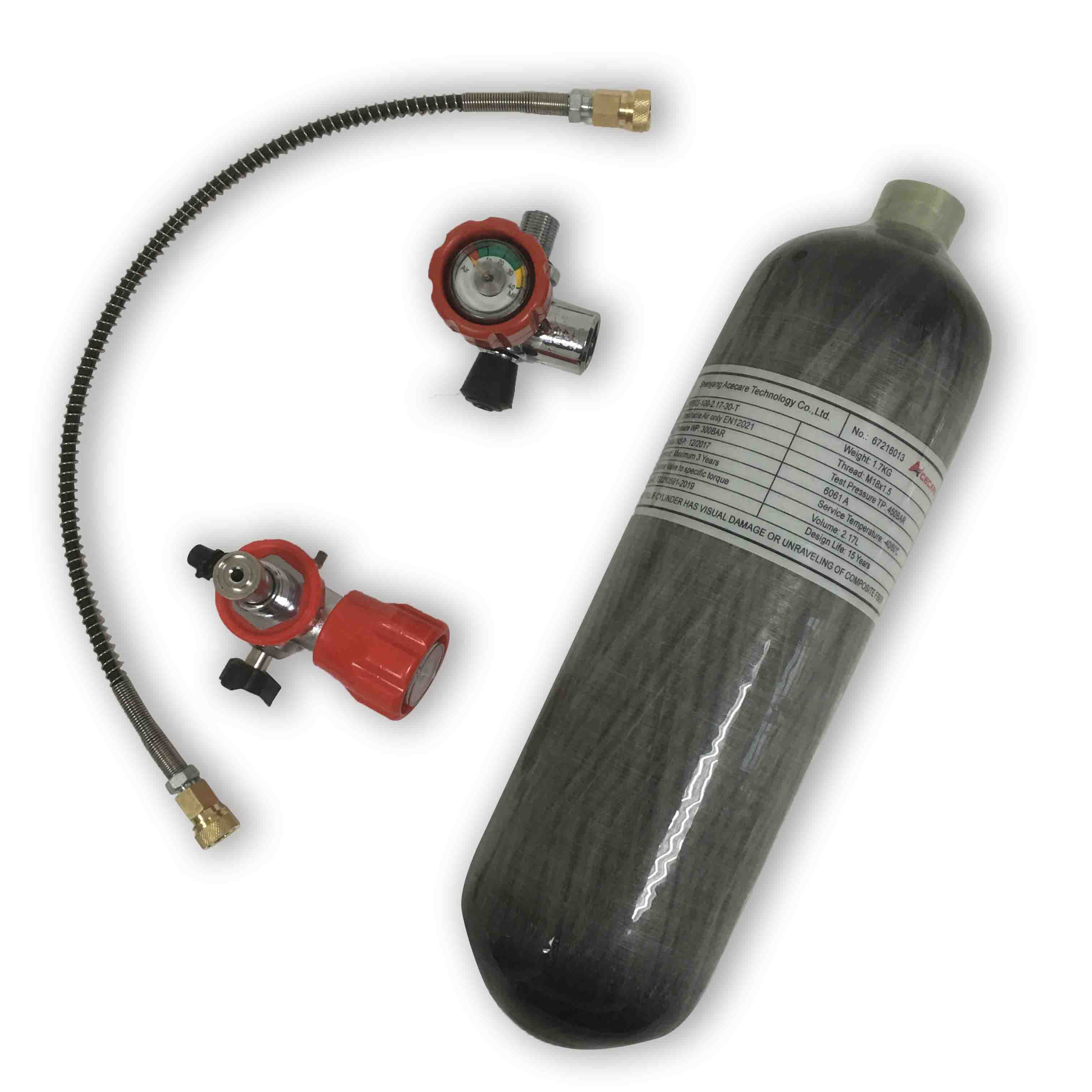 AC1217101 Acecare 2.17L HPA Compressed Air Tank Scuba Pcp 300Bar Airforce Condor Valve Rifle Air Rifle Cylinder Co2 Paintball