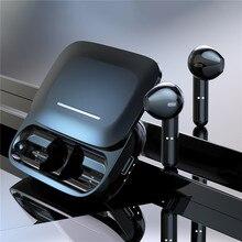 BE36 Stereo kablosuz kulaklık Bluetooth 5.0 HIFI ses Mini gürültü iptal kulak kulaklık şarj kutusu ile çift mikrofon