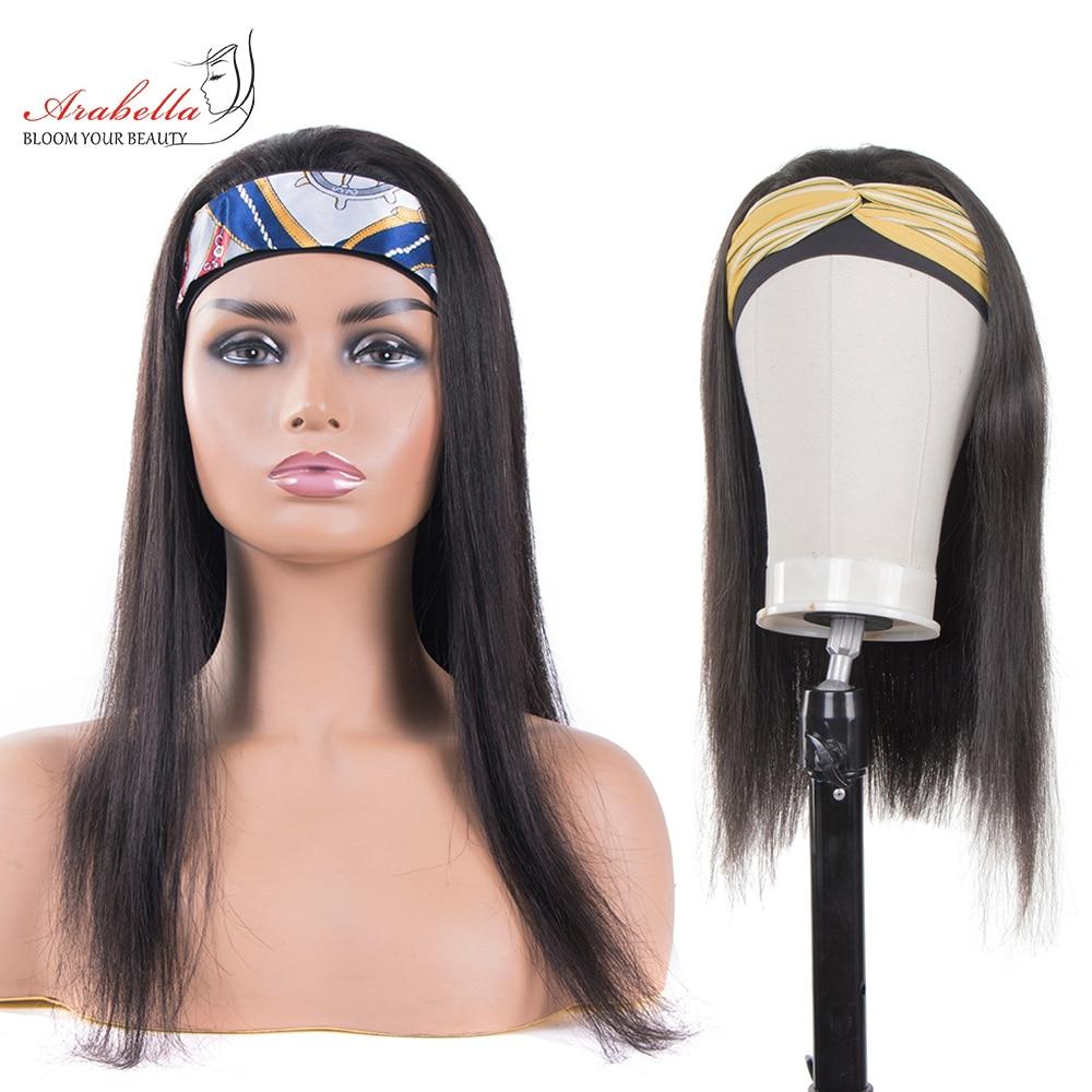 Headband Wig   Straight U Part Wig    Arabella Glueless Wig Headband Machine Wig 1