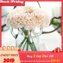 Fleurs artificielles soie artificielle faux fleurs pivoine fleurs mariage Bouquet nuptiale hortensia Decorpara decoracion hogar @(China)