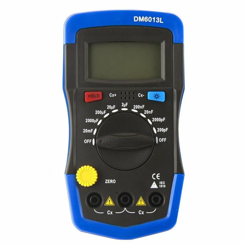 medidor de circuito capacitância capacitor tester display