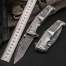 D2 Camping Knife Folding Blade Outdoor Knife Stainless Steel Tactical Knife Assisted Folding Knife Cold Steel Mini Combat Knife