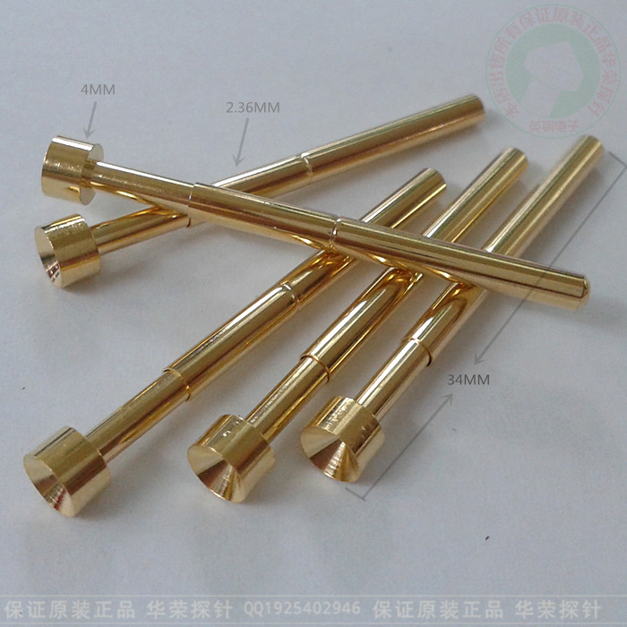 PA156-A Huarong Probe 4MM Concave Gold Plated Test Pin