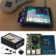Pantalla táctil Raspberry Pi 4, pantalla táctil de 4 pulgadas, 60 + fps, resolución de 800x480, con ventilador de refrigeración y funda para 4 B/Pi H052