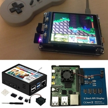 Raspberry Pi 4 Touchscreen, 4 inch 60+fps 800x480 Resolution  Raspberry Pi Touchscreen with Cooling Fan and Case for 4 B/Pi H052
