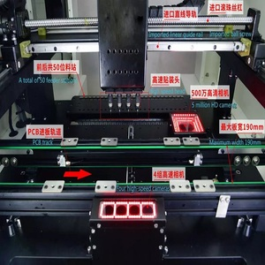 Image 2 - 50 Feeders Chip Mounting Machine Pick and Place SMT SMD Soldering Machine with 4Heads and Servo motor