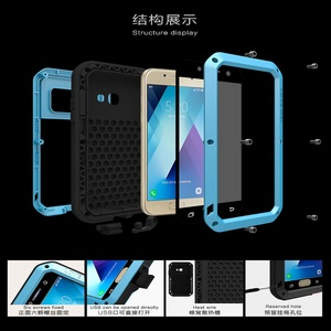Image 5 - 2017 A3 A5 LOVE MEI Case Gorilla Glass  Case For SAMSUNG Galaxy A320 A520 A3 A5 2017 Shockproof Metal Aluminum Armor Phone Cover