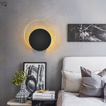 Nordic Postmodern Atmosphere Led Wall Lamp Creative Individual Luxury Kitchen Light Fixtures Living Room Background Bedside Cafe