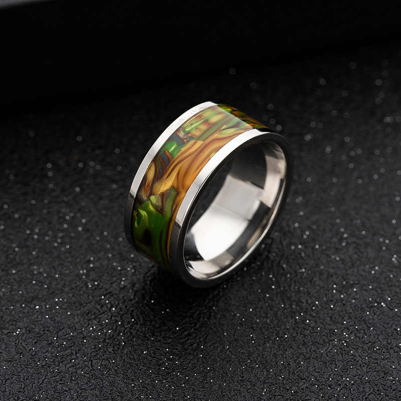 ADOMANER Stainless Steel Shell Rings For Men Women Engagement Wedding Fashion Popular Simple Jewelry Drop shipping  wholesale.