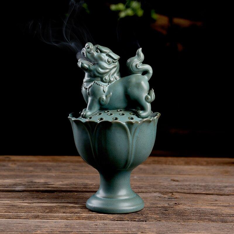 Ceramic Incense Burner Buddhist Bedroom Antique Smell Diffuser Incense Holder Porta Incenso Home Buddhist Supplies Mini MM60XXL