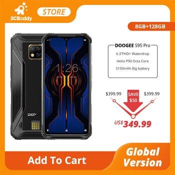 Перейти на Алиэкспресс и купить IP68/IP69K DOOGEE S95 Pro Helio P90 Восьмиядерный 8 Гб 128 ГБ модульный прочный мобильный телефон 6,3 дюйма дисплей 5150 мАч 48MP Cam Android 9