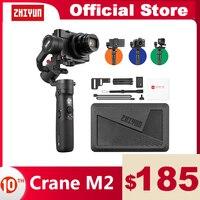 ZHIYUN Crane M2 Ufficiale Gru 3-Axis Sospensione Cardanica Palmare Stabilizzatore per Mirrorless Compatta Telecamere di Azione Del Telefono Smartphone iPhone 11