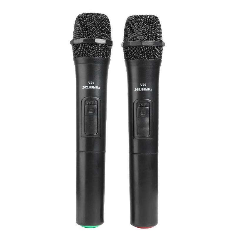 2pcs Smart Wireless Microphones Handheld Mic With USB Receiver For Karaoke
