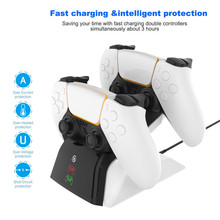 Light Playstation-5 Gamepad-Charger Console PS5 for with LED Indicator Eu/Us-Plug Wireless