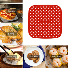 Reusable Air Fryer Square Baking Pads Food Grade Silicone Square Kitchen Baking Tools Silicone Oil Mats Bun Cake Grilled Saucer