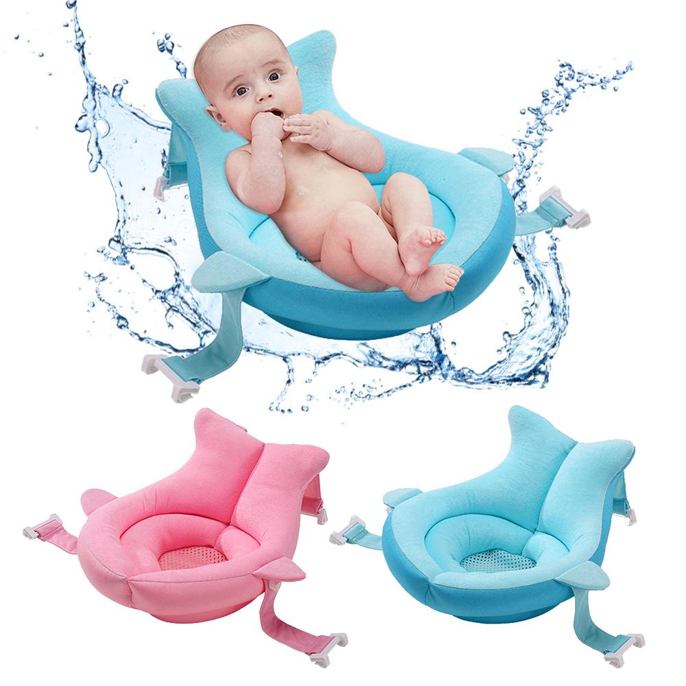 New Portable Newborn Baby Shower Bath Mat Non-Slip Bathtub Floating Pad Infant Baby Bath Seat Cushion Bed Non-Slip Bathtub Mat