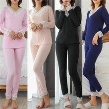 Suit Underwear-Sets Long-Johns Winter Warm Women Slim Pajamas Sexy Female Ladies