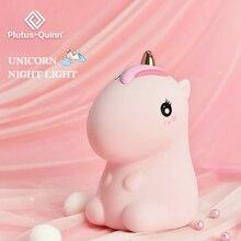 2020 새로운 Dropship LED 실리콘 유니콘과 공룡 밤 빛 어린이 선물 다채로운 밤 램프 침실 아기 터치 빛