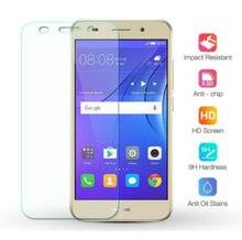Закаленное стекло для Huawei Y3 2017, 5,0 дюйма, зеркальная фотозащита для экрана телефона 9H 2.5D, защитная пленка для телефона