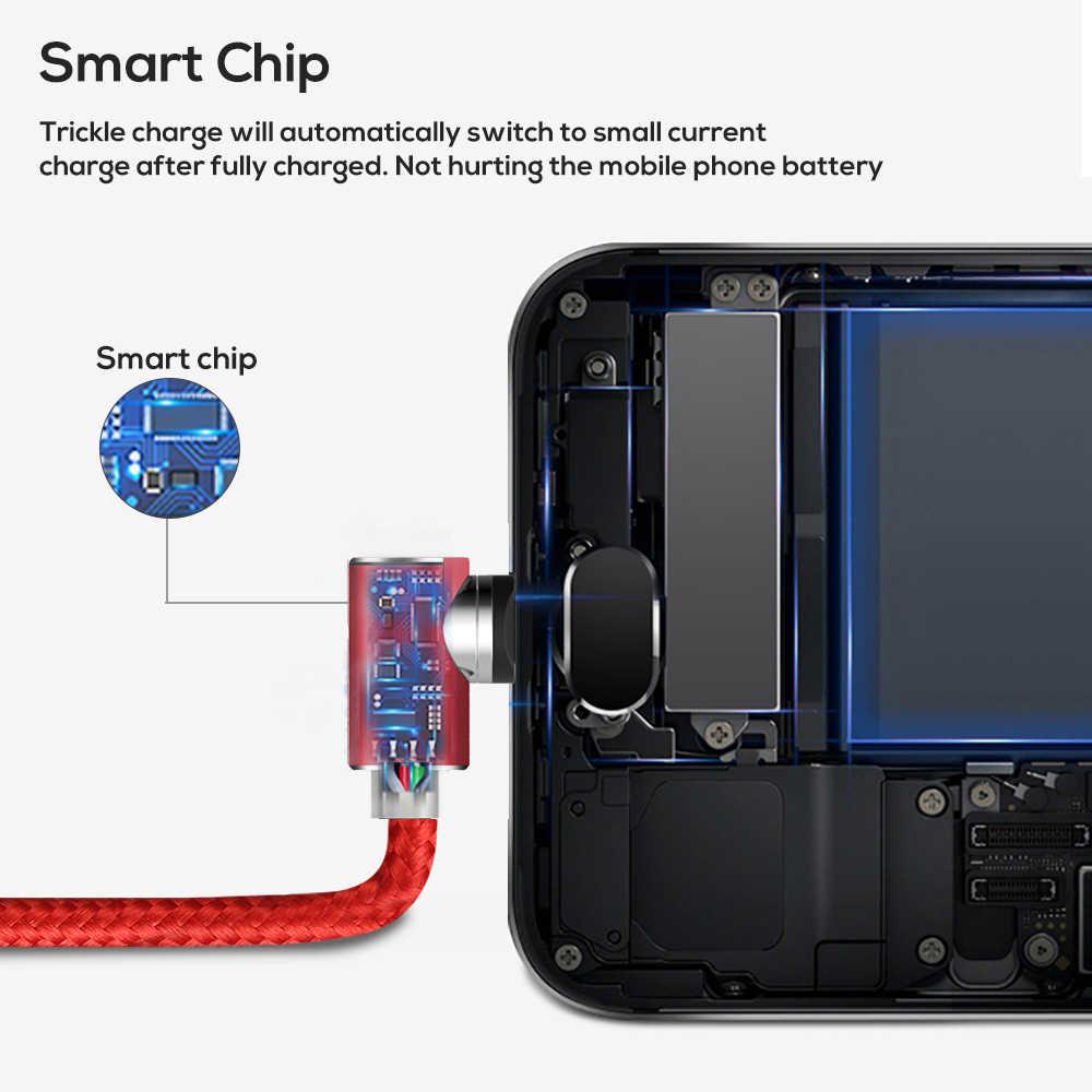 90 gradi L-Tipo di Cavo USB Magnetico per Il Caricatore di IPhone Micro Usb di Tipo C per Samsung Galaxy S9 S8 più Nota USB C Cavo del Caricatore