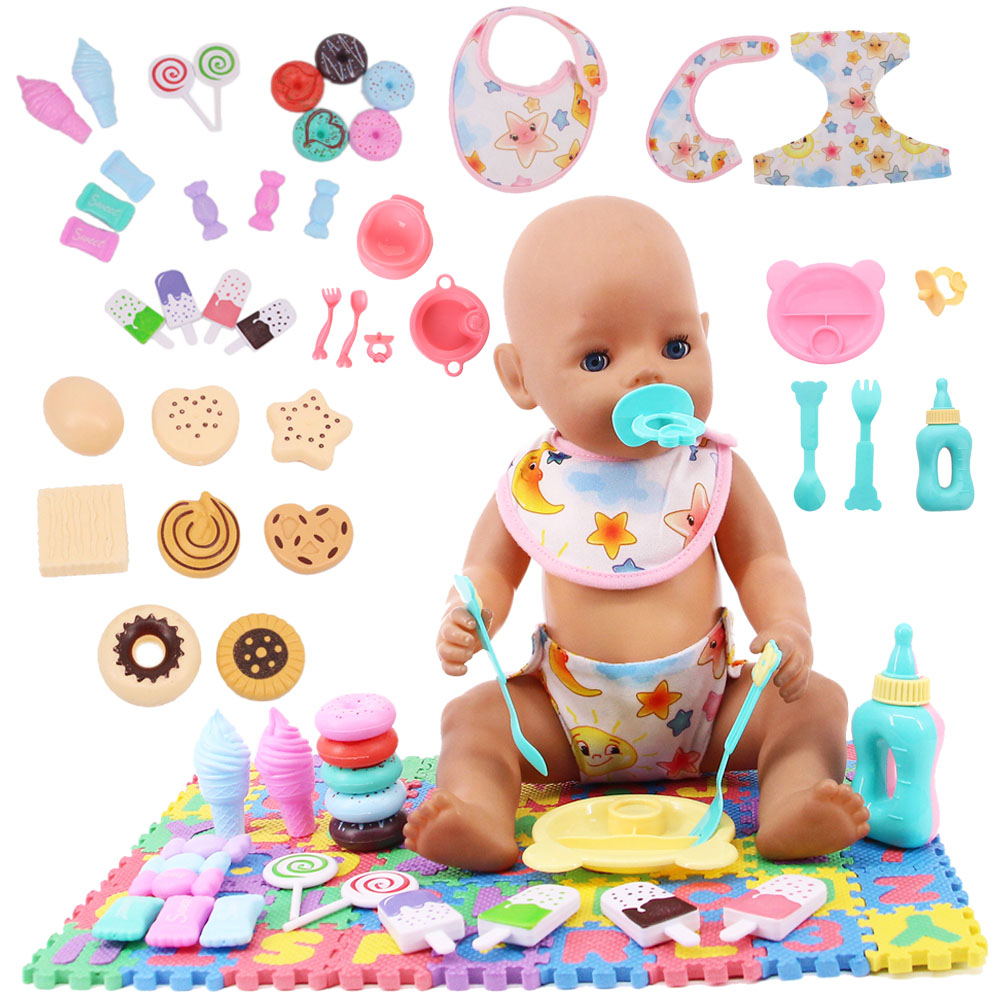 Doll Clothes Mini Play Toy Blanket Food Candy Bowel Nipple For 18 Inch American Of Girl&43Cm Baby New Born Doll Our Generation-0
