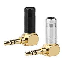 3.5Mm Audio Jack Stereo 90 Graden Adapter Speaker Connector Hifi Hoofdtelefoon Mini-aansluiting Voor Solderen Plug 3.5 Mannelijke 3Pole adapter