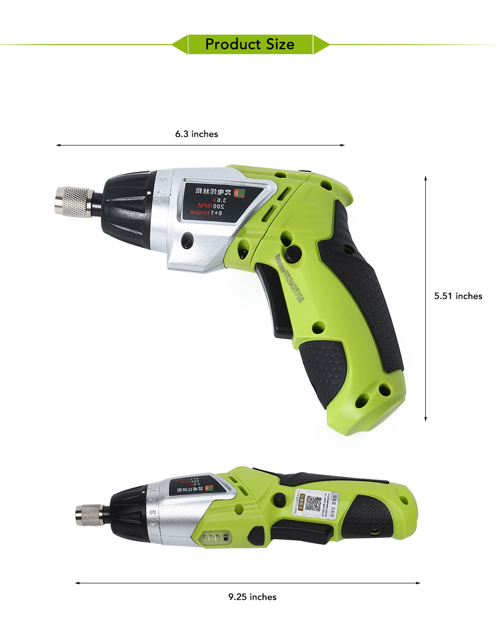 Hf2d3624e82094ff386e18adcd50de94ef - 3.6V Rechargeable Battery Cordless Electric Drill Screwdriver with Bits Set