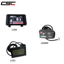 Wyświetlacz roweru elektrycznego 36V 48V inteligentny Panel sterowania rowerowego KT LCD3 LCD8 LED880 ebike LCD
