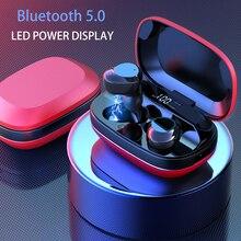 سماعة بلوتوث 5.0 TWS G16 ، سماعة رأس ستريو مع شاشة LED وصندوق شحن