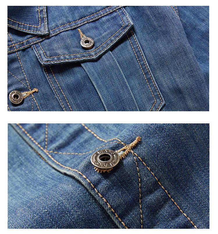 デニムジャケットメンズ7XL 6XL 5XL 4XLプラスサイズのジーンズのジャケットジャケット男性春秋のビッグサイズデニムコート男性のための