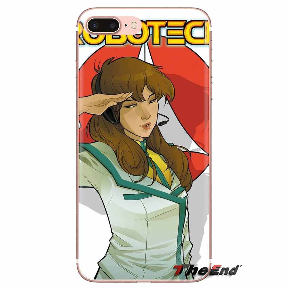 Macross 7 Encore Anime Trong Suốt TPU Có Cho Huawei G7 G8 P7 P8 P9 Lite Danh Dự 4C 5X 5C 6X giao phối 7 8 9 Y3 Y5 Y6 II 2 Pro 2017
