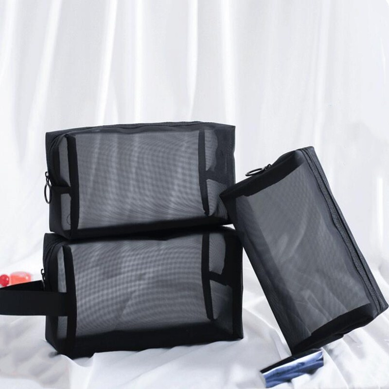 Nylon Mesh Pencil Case Student Study Pencil Bag Stationery Holder Office Supplies Desk Accessories