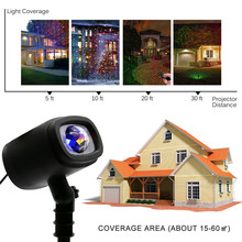 Christmas Projector Lights Moving Patterns LED Landscape Lights Waterproof Outdoor Indoor Xmas Theme Party Yard Garden Decor aucd outdoor indoor green red rg laser projector lights landscape garden yard home party xmas buried lighting od 100rg