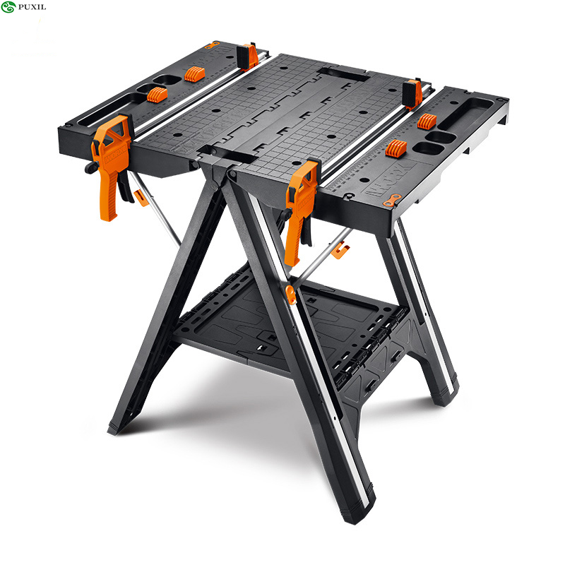 Multifunctional Folding Woodworking Benches DIY Work Table Portable Tool Benches With Strong Clamping Force