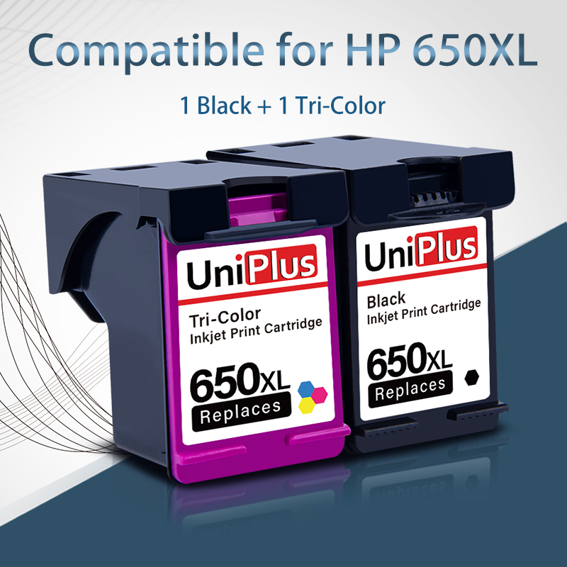UniPlus 650XL Refill Ink Cartridge Replace for <font><b>HP</b></font> 650 hp650 Deskjet 2545 2546 2548 2645 2646 2648 3510 <font><b>3515</b></font> 3545 3546 Printer image
