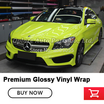 Highest quality Crystal glossy tender green Glossy Vinyl Wrap High Gloss Blue Shiny Car Wrap Film