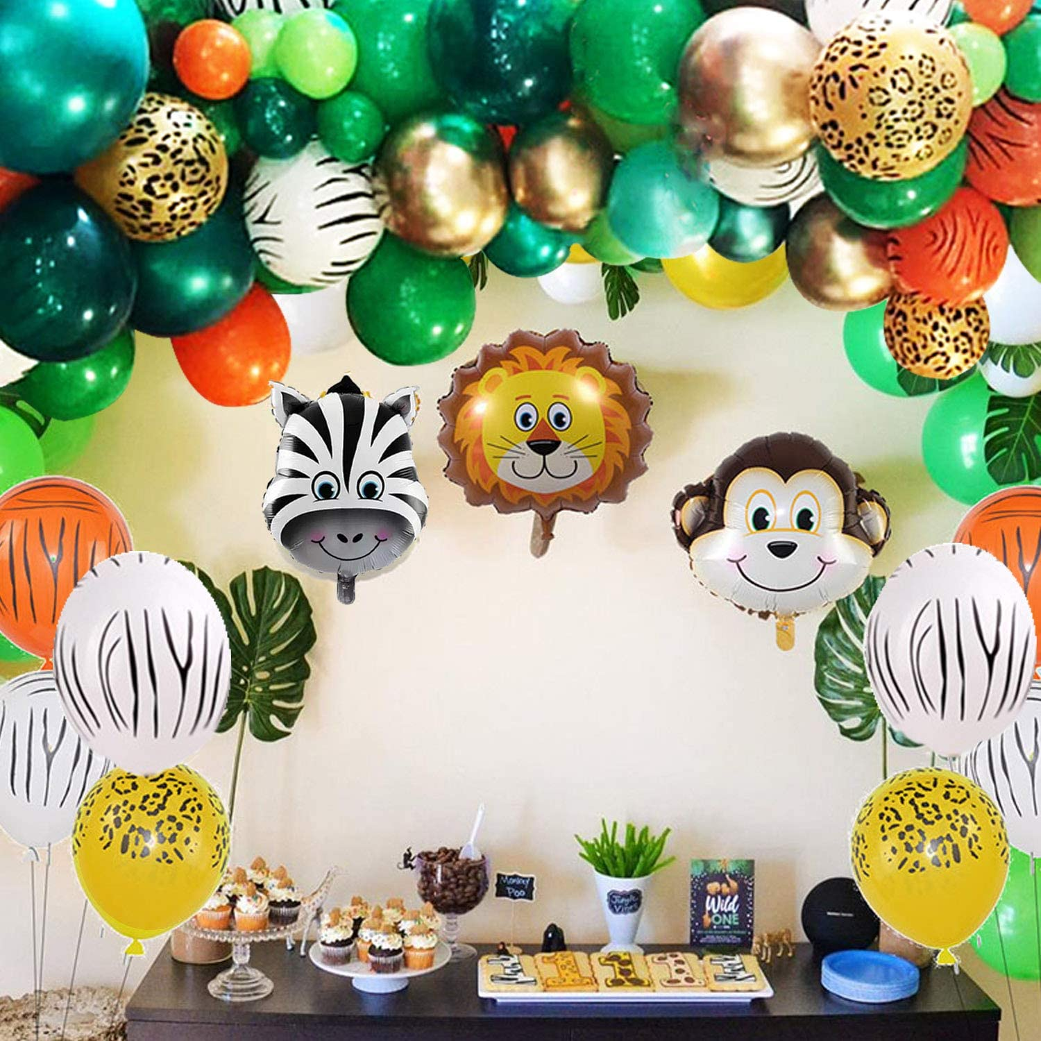 Animal Balloons Garland Kit Jungle Safari Theme Party Supplies Favors Kids Boys Birthday Party Baby Shower Decorations