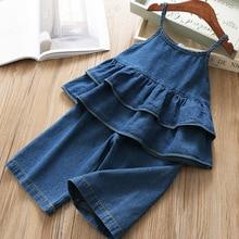 Suit Children Clothing-Sets Jacket Leg-Pants Girls' Baby Kids Korean Summer Denim Top