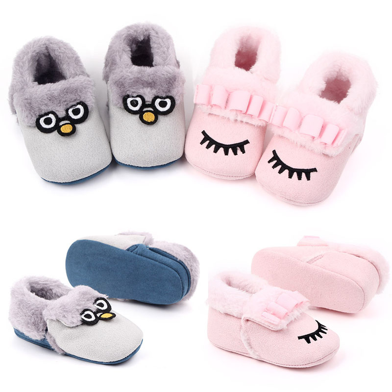 Winter Cute Rabbit Style Baby Boots Fleece Worm Cotton-padded Shoes Baby Booties Wholesale 0-18 Month Infant Toddler Shoes 2019