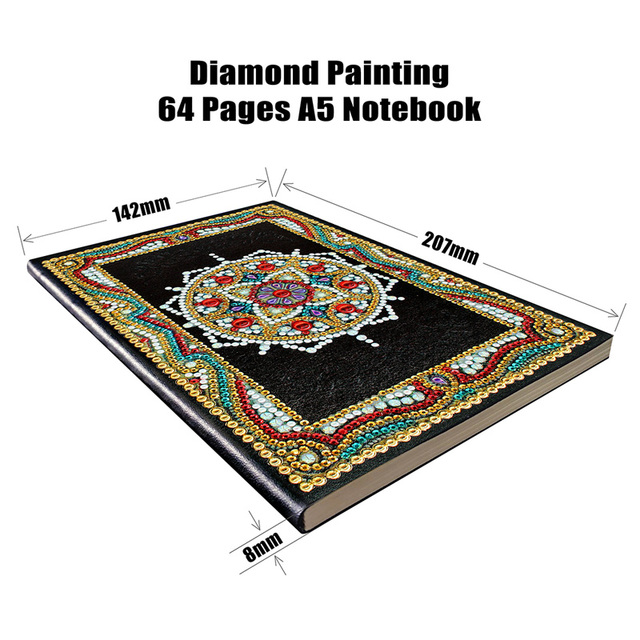 Mosaic Painting Notebook A5 64 pages Diary Book Diamond Embroidery Rhinestones Decor Gift