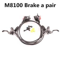 Shimano Deore XT M8000 M8100 Гидравлический Тормозной набор Ice Tech охлаждающие колодки передние и задние для mtb велосипедных частей 800/1500 мм