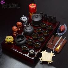 Chinese Kung Fu Tea Set Set Solid Wood Tea Set Service Tray Ceramic Kung Fu Tea Set Tea Ceremony Accessories Business Gifts стоимость